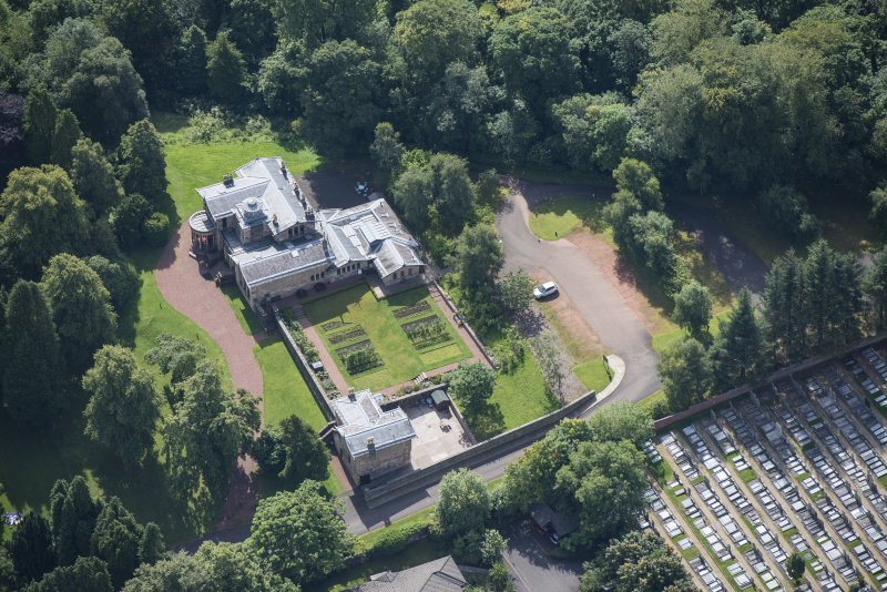 Oblique aerial view of Holmwood House, looking SSE.