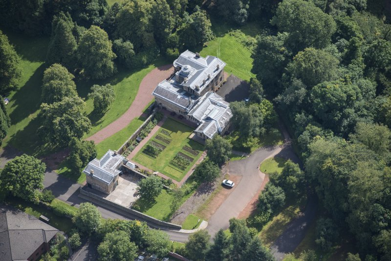 Oblique aerial view of Holmwood House, looking ESE.
