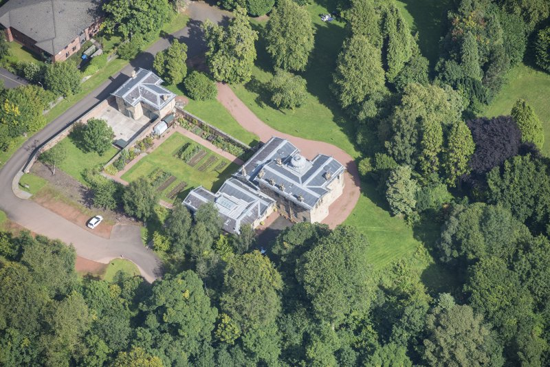 Oblique aerial view of Holmwood House, looking NE.