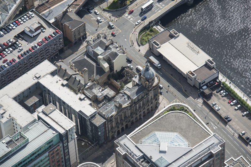 Oblique aerial view of the Clyde Port Authority Building, looking SE.
