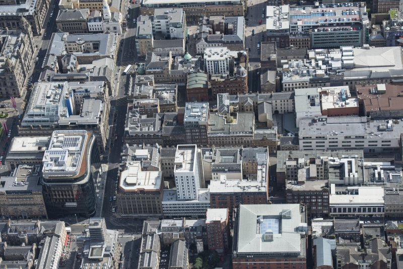 Oblique aerial view of central Glasgow, looking ESE.