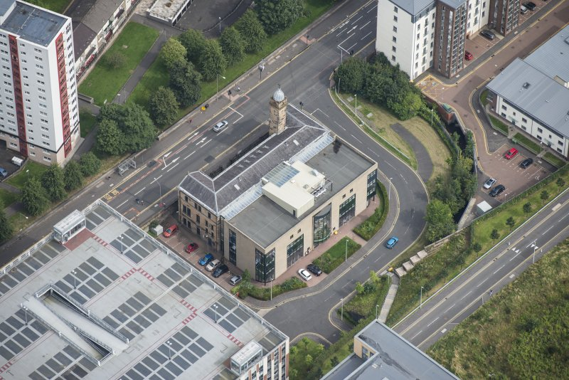 Oblique aerial view of Ladywell School, looking NE.