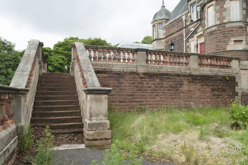 General view of steps, taken from the north.