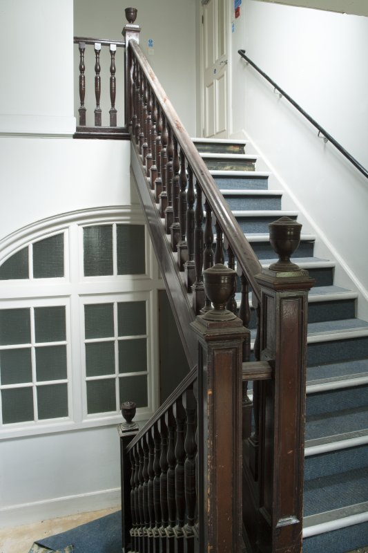 Interior. View of staircase to upper floor.