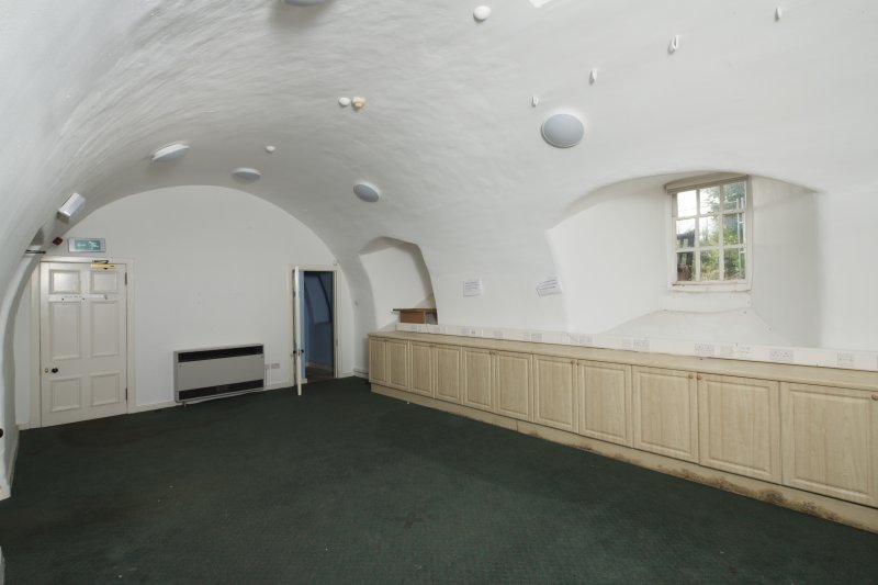 Interior. Ground floor, View of W vaulted room.