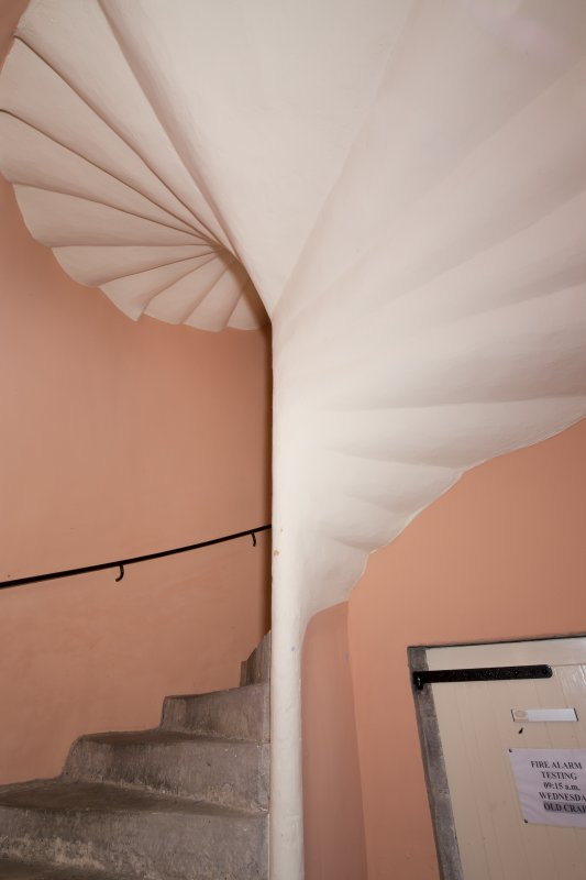 Interior. Detail of spiral staircase.