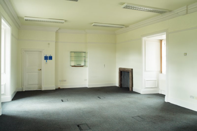 Interior. View of first floor former office.