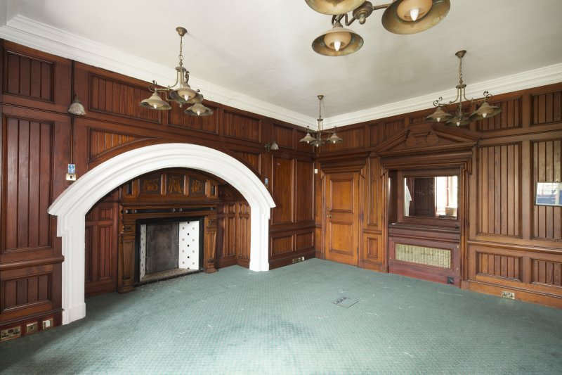 Interior. View of the first floor dining room.