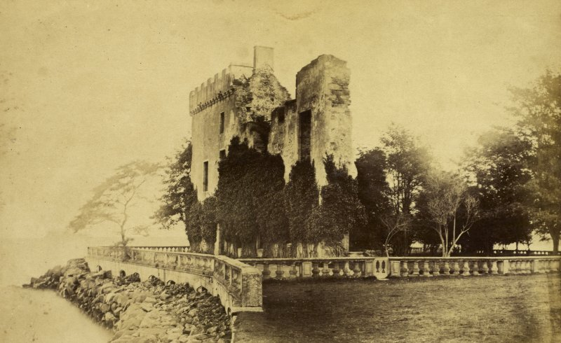 View of Barnbougle Castle, Dalmeny, Edinburgh