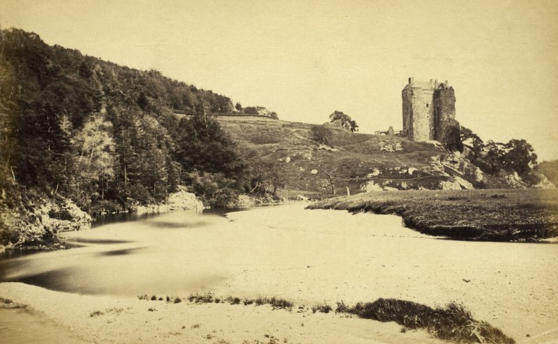 View of Neidpath Castle from across the river