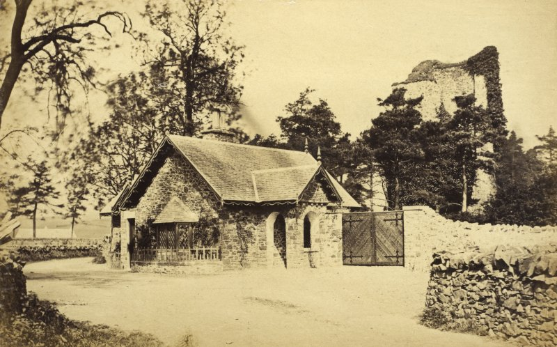 View of gatehouse to Cross Kirk, Peebles