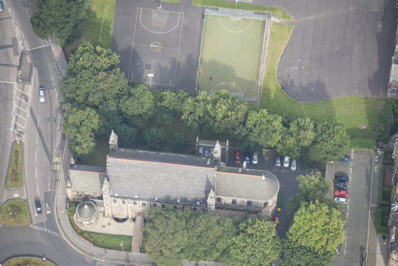 Oblique aerial view of East London Street Catholic Apostolic Church, looking NNW.