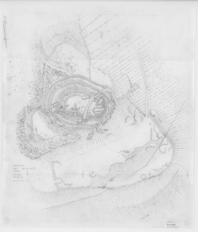 Field survey drawing; Dunsinane, Fort.