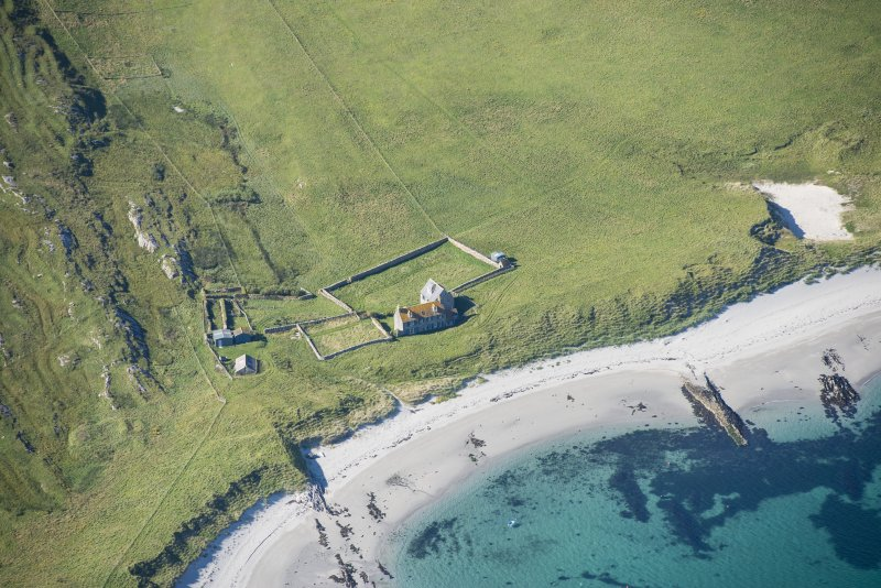 Oblique aerial view of Killegray House, looking WNW.
