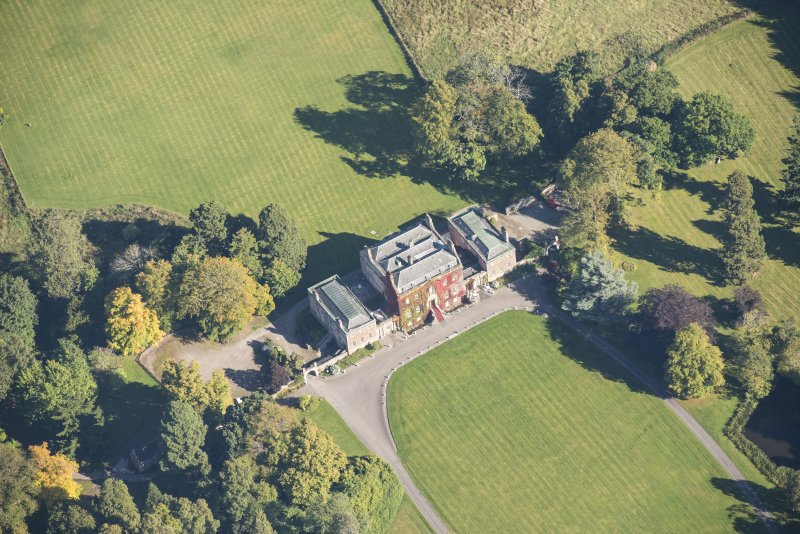 Oblique aerial view of Culloden House, looking ENE.