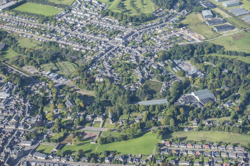 General oblique aerial view of Keith, looking W.