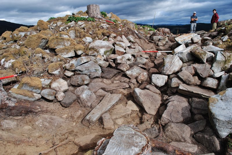 Rubble-filled entrance on the west side of the structure, Comar Wood Dun, Cannich, Strathglass