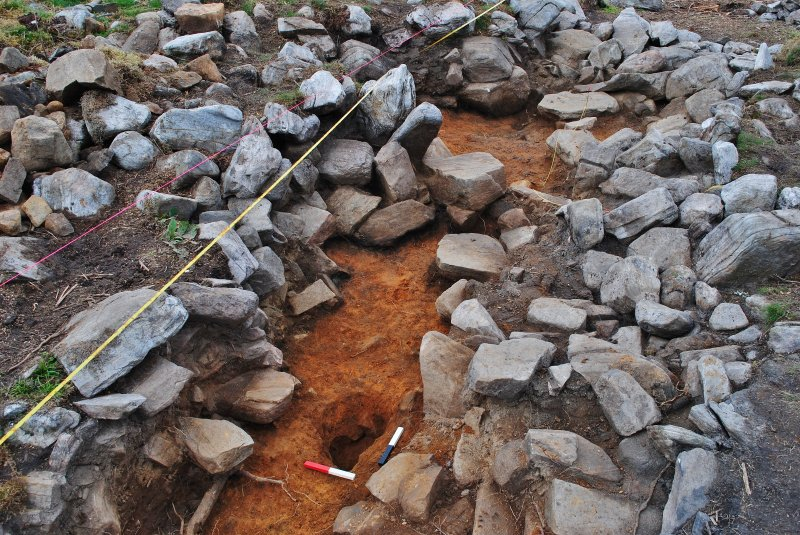 Post-excavation image of posthole 219, Comar Wood Dun, Cannich, Strathglass