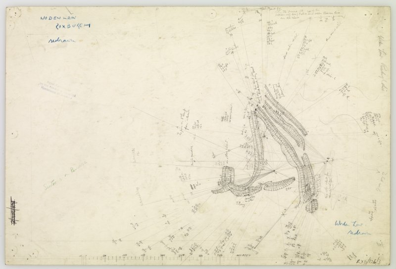 Plane-table survey; Woden Law, fort. Sheet II.