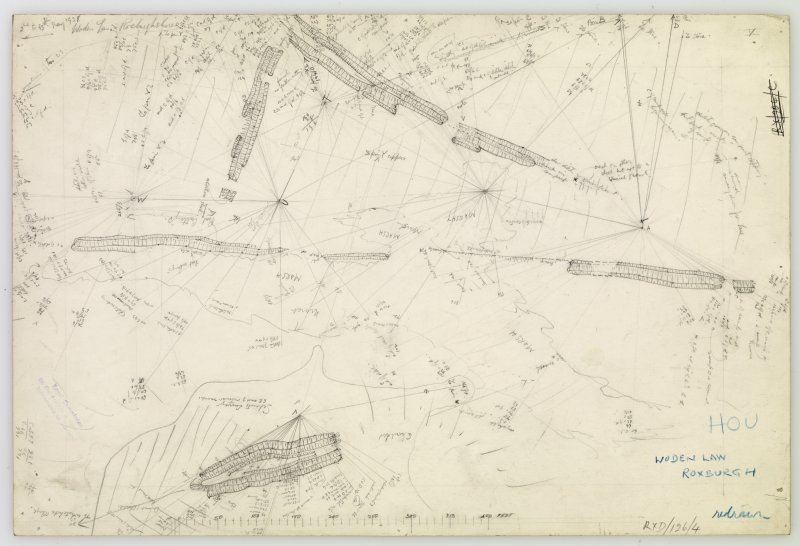 Plane-table survey; Woden Law, fort. Sheet V.