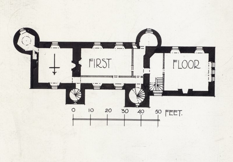 Publication drawing; Nisbet House, plan of first floor.