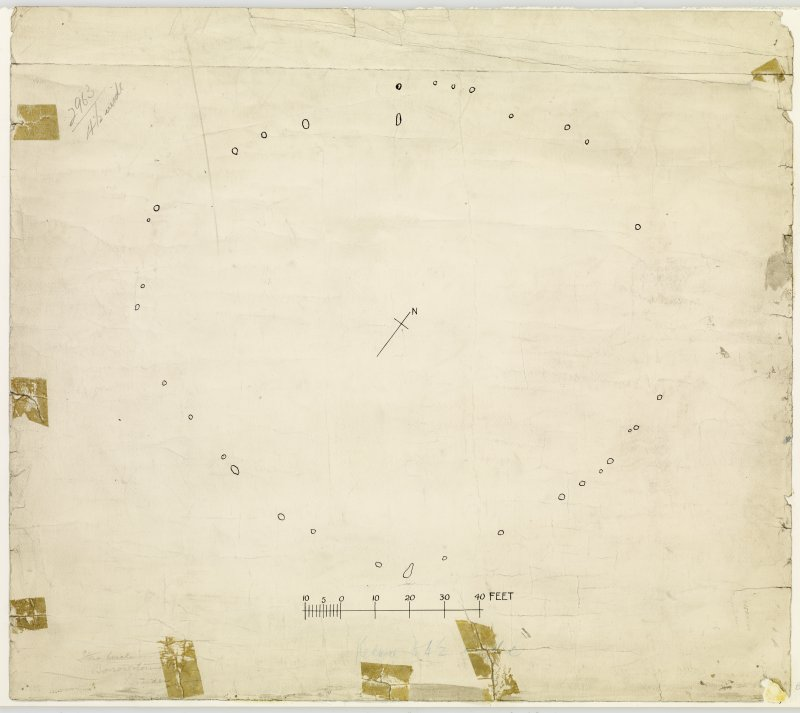 Publication drawing; plan of Stone Circle, Borrowstoun Rig.