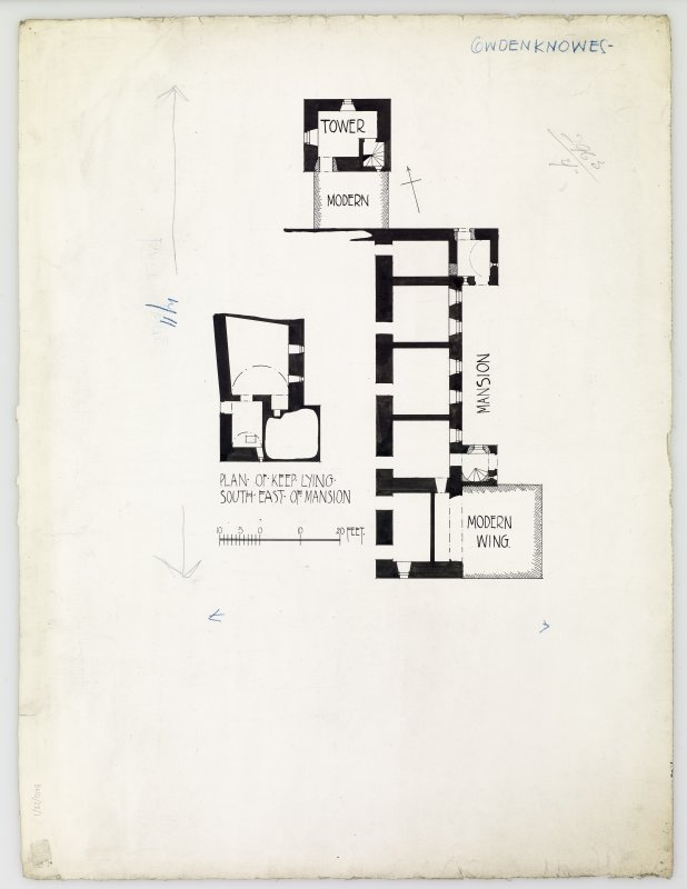 Publication drawing; plan of Cowdenknowes mansion-house.