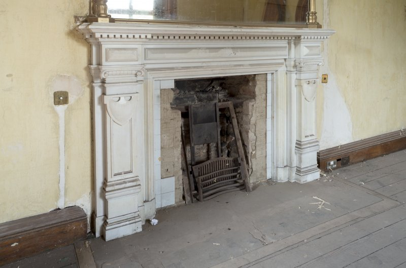 First floor Detail of fireplace in drawing room.