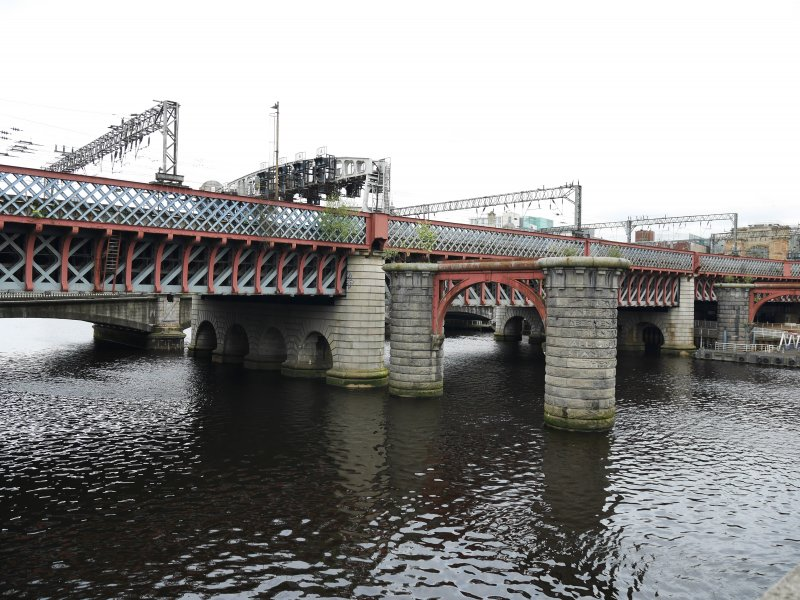 General view of inscribed bridge pier.