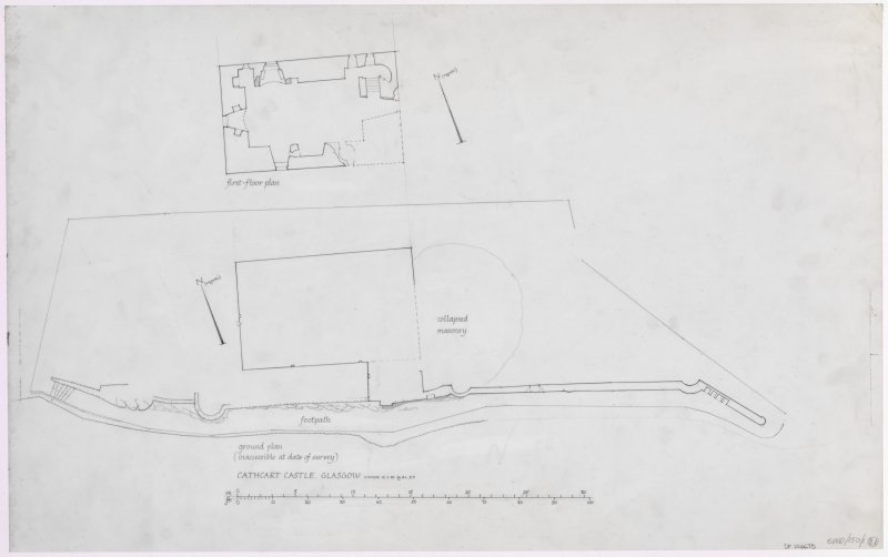 Glasgow, Old Castle Road, Cathcart Castle. Ground plan.