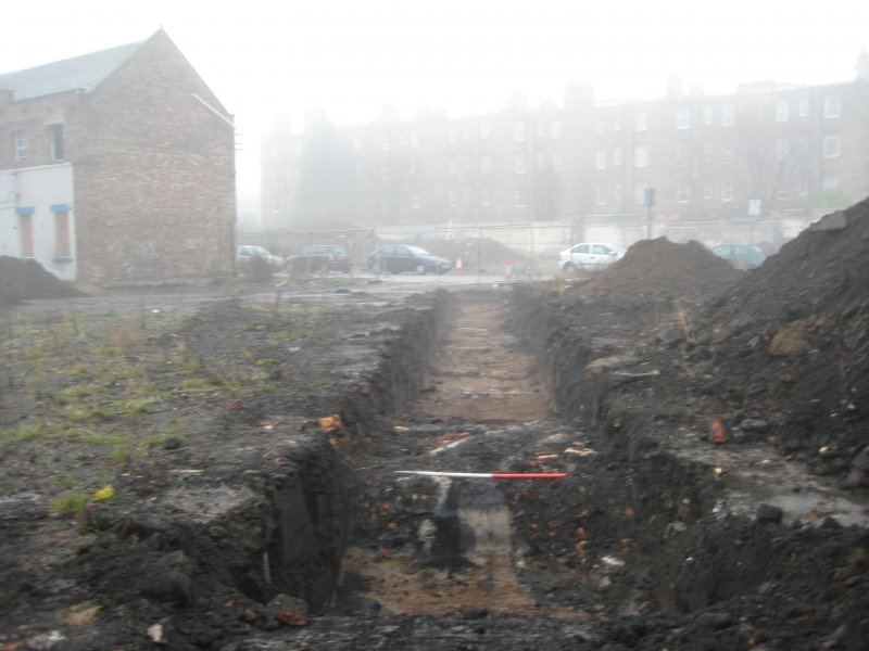 Record view, trench 5, photograph from desk based assessment and archaeological evaluation at Logie Green Road, Edinburgh