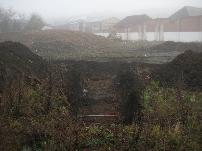 Record view, trench 6, photograph from desk based assessment and archaeological evaluation at Logie Green Road, Edinburgh