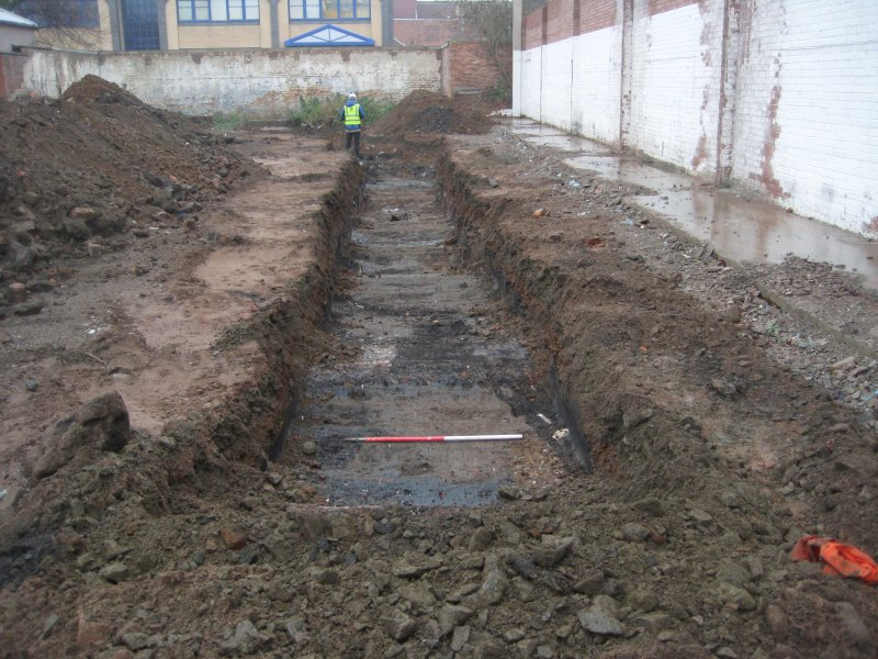 Record view, trench 8, photograph from desk based assessment and archaeological evaluation at Logie Green Road, Edinburgh