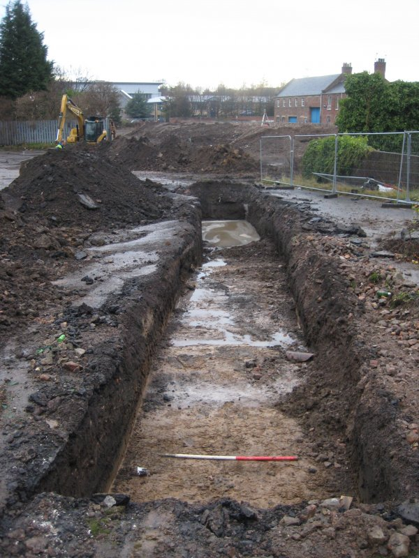 Record view, trench 1, photograph from desk based assessment and archaeological evaluation at Logie Green Road, Edinburgh