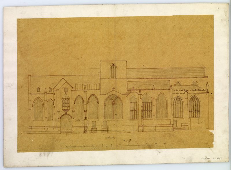 Drawing of South elevation, St Giles Cathedral, Edinburgh