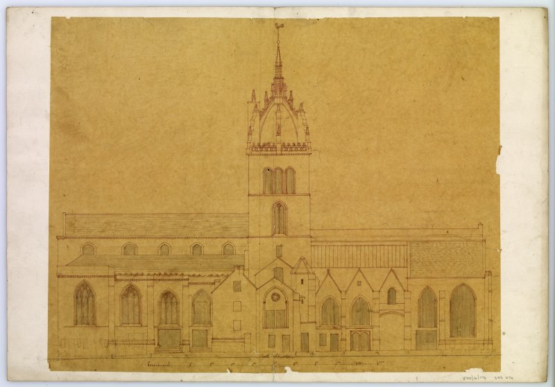 Drawing of North elevation, St Giles Cathedral, Edinburgh