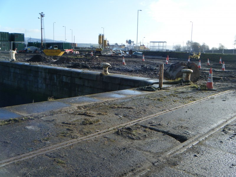 North east corner of the docks, photograph from watching brief at James Watt Dock, Glasgow