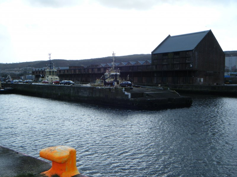 General view of the docks, photograph from watching brief at James Watt Dock, Glasgow