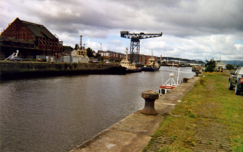 Photograph from watching brief at James Watt Dock, Glasgow