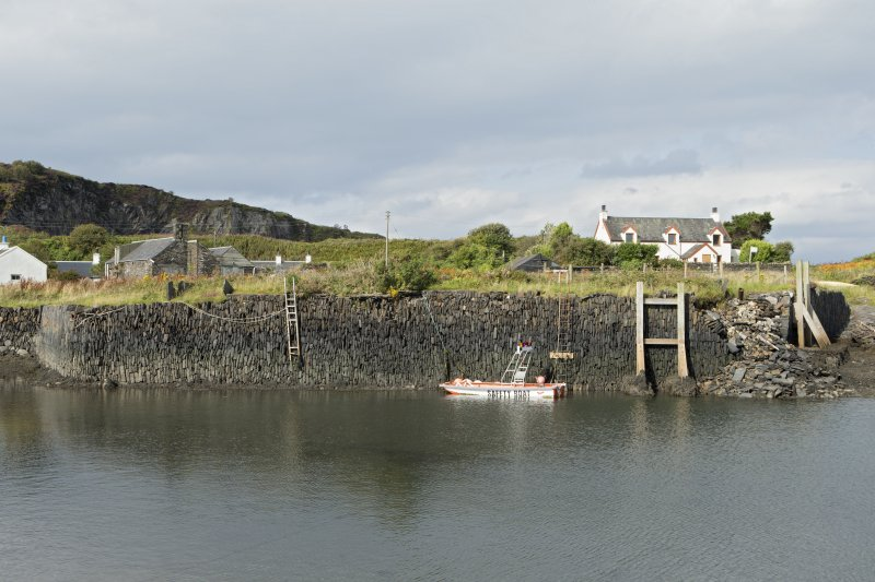 Harbour, north wall, view of stonework