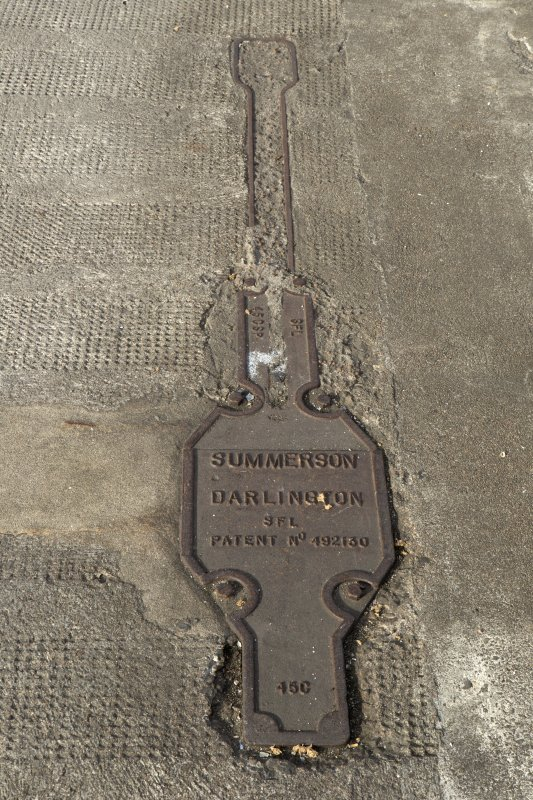 Detail of railway points lever base plate by Summerson of Darlington