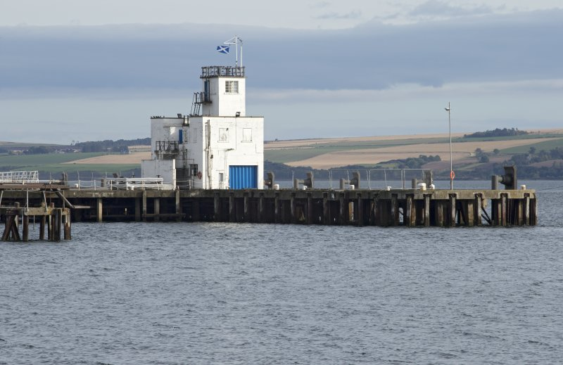 Pier and control tower, view from north west