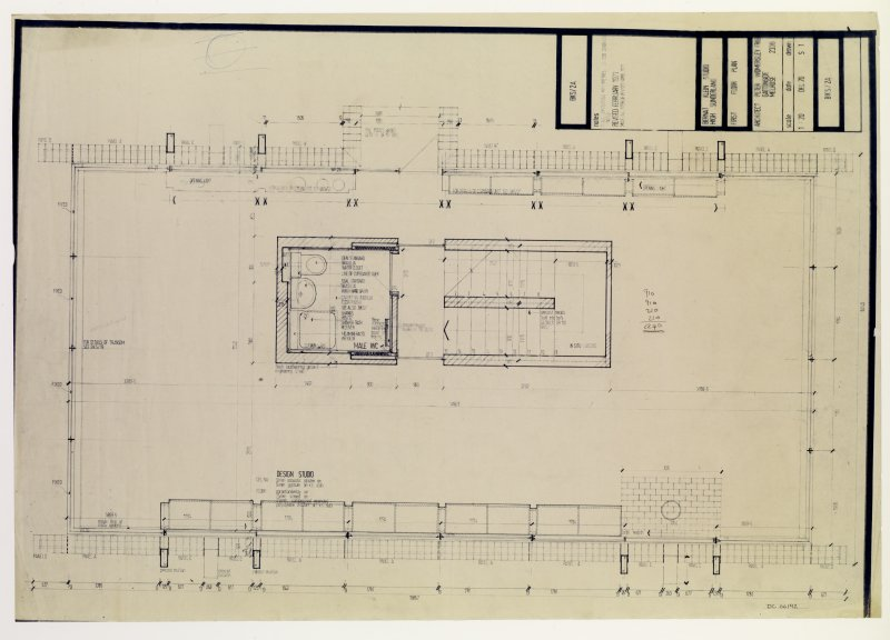 Drawing showing first floor plan of the Bernat Klein Studio