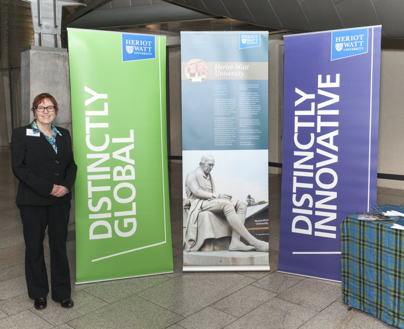 Ann Jones, Head of Heritage and Information Govrnance, Heriot Watt University, Museum and Archive at the Celebrating James Watt: inventor, polymath, genius at Holyrood Garden Lobby, 19th January 2016