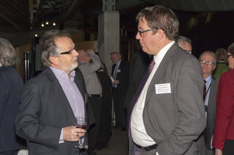 Crawford Gorrie (IESIS) and Professor Jason Reese (University of Edinburgh) at the Celebrating James Watt: inventor, polymath, genius event at Holyrood Garden Lobby, 19th January 2016