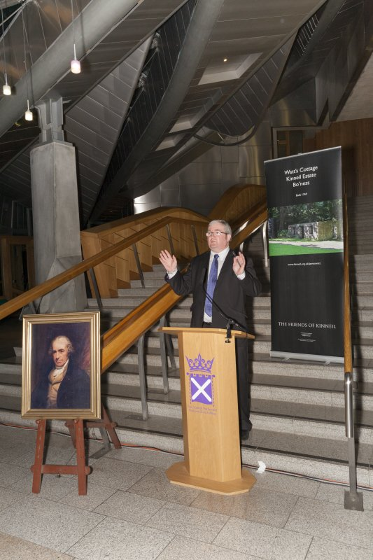 Angus MacDonald MSP (Falkirk East) Scottish Parliament Sponsor of the Celebrating James Watt: inventor, polymath, genius event at Holyrood Garden Lobby, 19th January 2016