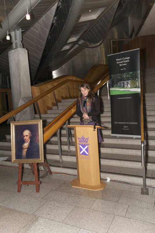 Aileen Campbell MSP and Scottish Government Minister for Children and Young People at the Celebrating James Watt: inventor, polymath, genius event at Holyrood Garden Lobby, 19th January 2016