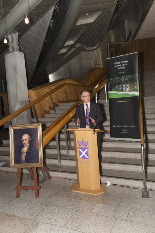 Professor Gordon Masterton (University of Edinburgh) at the Celebrating James Watt: inventor, polymath, genius event at Holyrood Garden Lobby, 19th January 2016