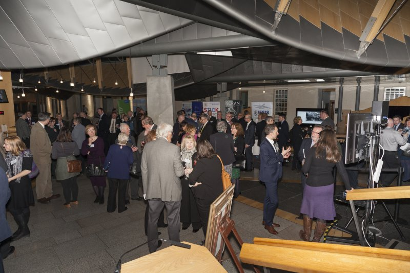 The Garden Lobby, Scottish Parliament, Holyrood, Edinburgh on the occassion of Celebrating James Watt: inventor, polymath, genius event, 19th January 2016, sponsored by Angus MacDonald MSP (Falkirk East).