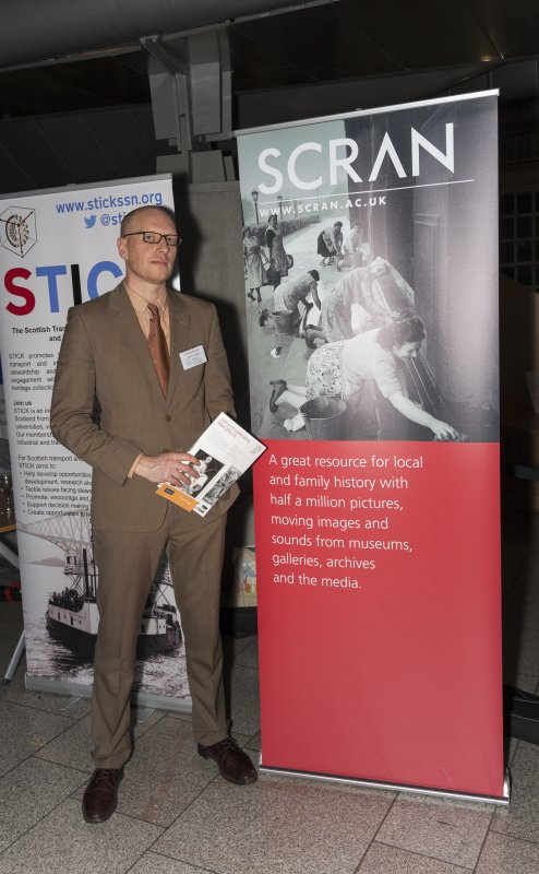 Andrew James (Scran at Historic Environment Scotland) at the Celebrating James Watt: inventor, polymath, genius event at Holyrood Garden Lobby, 19th January 2016